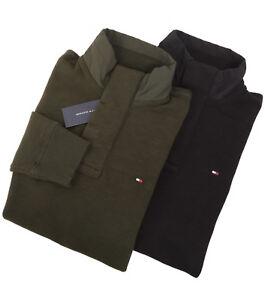 Tommy Hilfiger Men's Mock Neck Sweat Shirt Fleece Sweater Jacket - Free $0 Ship