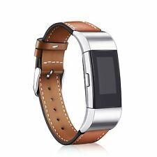 Fitbit Charge 2 Band Leather Strap, Mornex Classic Adjustable Replacement Wrist