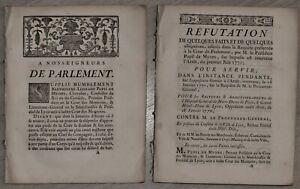 [Doit Ancien Régime] Président Pupil de Myons Grand Hôtel-Dieu Lyon 1770