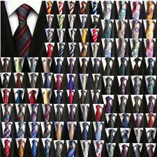 Men's Ties Black White Blue Stripe Paisley Floral Checks Tie Silk Necktie