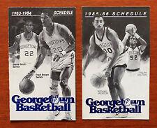 CBK Lot 2 Diff GEORGETOWN HOYAS College Basketball Schedules 1983-84 1985-86 Bud