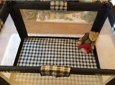 Petite Star Portable Travel Cot/playpen with Matching Storage/carry Bag