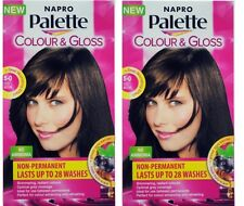 2 x NAPRO PALETTE COLOUR & GLOSS HAIR COLOUR 5-0 ICED MOCHA 100% Brand New