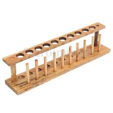 Laboratorio di legno provetta RACK 10 Fori & 10 PERNI SOSTEGNO SUPPORTO STAND buretta