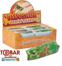Tobar Dino Dinosauri ACQUA Serpente Divertente Giocattolo Natale Calza Filler Partito Borsa Regalo Gioco