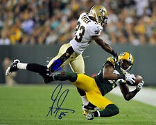 "Greg Jennings NFL  Green Bay Packers Great! 10""x 8"" Signed Color PHOTO REPRINT"