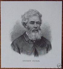 Original 1886 Australian PRINT Engraving ANDREW PETRIE