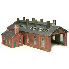 Metcalfe PO213 Red Brick Engine Shed Die Cut Card Kit 00 -NO LONGER MADE T48Post