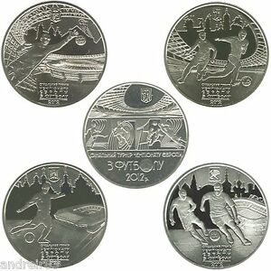 UEFA EURO 2012 Set of Coins Ukraine Ukrainian coins MC584