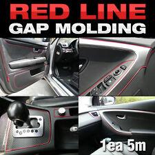 Edge Gap Red Line Interior Point Molding Accessory Trim 5meter for HONDA Accord