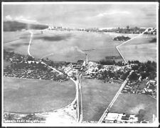 WAIALUA SUGAR COMPANY 1930's, OAHU, AERIAL B&W PHOTOGRAPH ON 8X10 INCH MATT