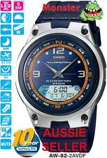 AUSSIE SELLER CASIO WATCH FISHING TIME AW-82-2AV AW82 MOON AGE 12-MONTH WARRANTY