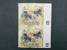 1971 malaysia butterflies imperf pair error black omitted mint stamps rare