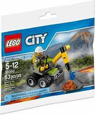 Lego City 30350 Volcano Jackhammer Polybag Brand New 53pcs