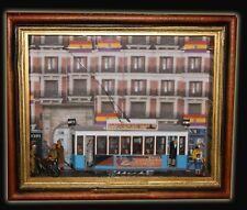 Cuadro vitrina tranvía  de MADRID 1937