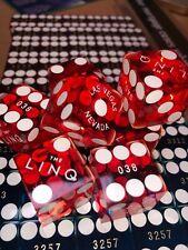 Las Vegas Dice x 5 Full Stick Matching Serial Numbers Caesars Paris Binions.