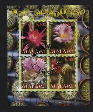 Cactus BLOOMING Red, Pink Flowers - Souvenir Sheet of 4, unmounted u24