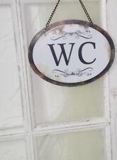 Clayre & Eef WC Schild Blechschild Toilette Shabby Vintage Landhaus 17x13 cm