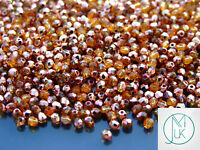 1200 Fire Polished Beads 3mm Copper Topaz WHOLESALE