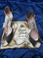 "UK3 COMME il FAUT Tango Buenos Aires Handmade Leather Lace Dance Shoes 3"" Heels"