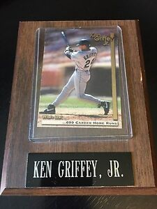 Ken Griffey, Jr. Plaque with Baseball Card 699 Career Home Runs 1995 Megacards