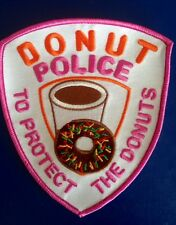 DONUT POLICE To Protect the Donuts XXL 5INCH Novelty Uniform Jacket Patch Badge