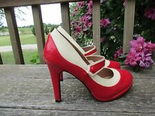 Graham Street Spectator Pumps Modcloth Classy Indeed 7 Red May Jane