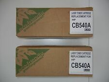 (2) Hewlett-Packer HP CB540A Laser Ink TONER CARTRIDGE Replacement NEW SEALED