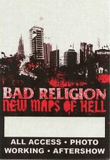 Bad Religion 2007 New Maps Of Hell Tour Backstage Pass! Original Concert stage
