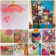Little girl woodland/floral themed bedroom bundle, Vertbaudet. Bedding, canopy