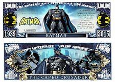 Batman Million Dollar Bill **Novelty Money** FREE Sleeve
