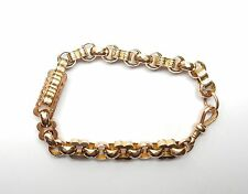 Antique Rose Gold Heavy Bracelet Sunday Albert Style 9 carat 21.8g