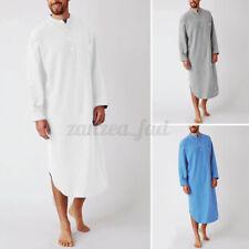 100% Baumwolle Herren Pyjamas Dressing Nachtwäsche Nachthemd Kaftan Gown Robes