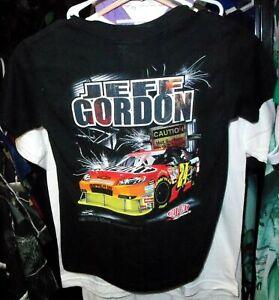 VINTAGE CHASE #24 JEFF GORDON BLACK TEE SHIRT YOUTH KIDS SMALL NWT SIZE 6/8