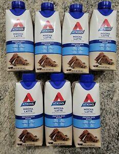 7 Cartons Atkins Mocha Latte Protein-Rich Shakes Gluten Free Keto-Friendly 11oz