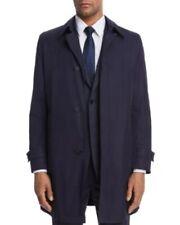 NWT Men's BOSS by Hugo Boss Garret Collar Raincoat, 40R, Medium, Dark Blue