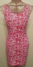 Forever 21 Red & White Sleeveless Bodycon Mini Dress Size Small Brand New
