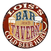 CWBT0091 LOIS'S BAR N TAVERN Sign Mother's Day Christmas Gift For Woman