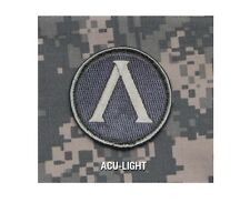 Milspec Monkey MSM SPARTAN Shield LAMBDA Patch Nylon ACU LIGHT - Silver / Grey