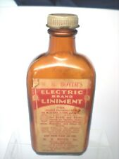 Antique Wb Boyers Electric Liniment Medicine Bottle For Aches & Pains Reading Pa