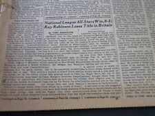 1951 JULY 11 NEW YORK TIMES - RAY ROBINSON LOSES, N. L. ALL-STARS WIN - NT 5784