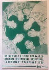 1949 USF Dons Story Of NIT Championship Program