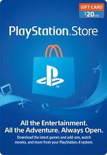 PlayStation Network PSN $20 USD - PSN Store Card - PS4 PS3 USA
