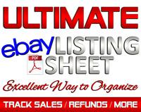 Track eBay Sales / eBay Listing Sheet / eBay Accounting Profit & Expense PDF