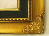 ornate vintage wood picture painting frame elegant wall decor wooden