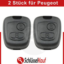 2 Stück PEUGEOT Autoschlüssel Gehäuse Funk Fernbedienung 106 206 207 306 307 806