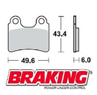 BRAKING PASTIGLIE POSTERIORI BETA REV3 250 2000-2004 BRAKE PADS REAR
