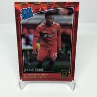 2018-19 Panini Donruss Soccer RC RED PRESS PROOF Rated Rookie ALPHONSO DAVIES