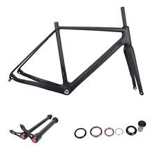 Carbon 49/52/56/58cm UD Matt CX Cyclocross Bike Frame&Fork&Headsets&Thru Axle