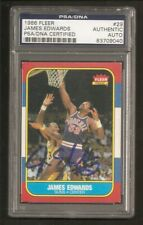 James Edwards Suns 1986 Fleer Signed Auto PSA/DNA ENCAPSULATED
